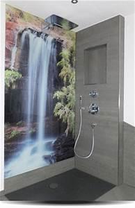Dusche Statt Fliesen : duschr ckwand statt fliesen jetzt individuell gestalten ~ Lizthompson.info Haus und Dekorationen