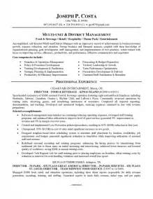 food and beverage director resume food and beverage director resume sles of resumes