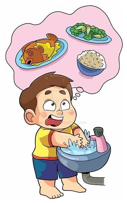 Before Washing Hand Eat Eating Hands Wash