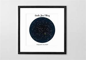 Personalised Star Map Print Poster Or Canvas Posterhaste