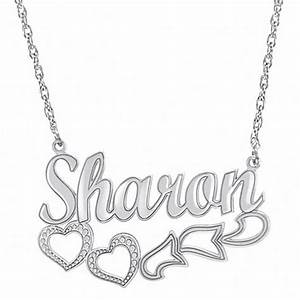 script name necklace with heart design in sterling silver With name necklace individual letters