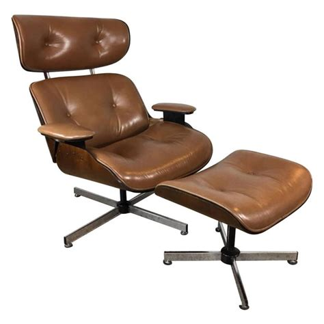 light brown leather ottoman plycraft light brown leather lounge chair and ottoman at