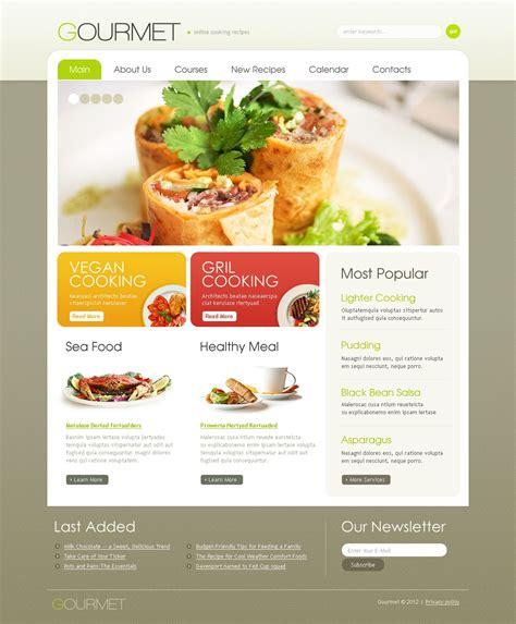 food template food drink responsive website template 38614