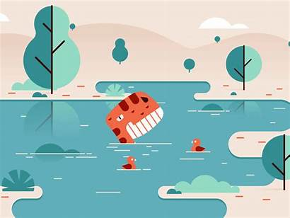 Bath Lake Dribbble Dyno Save Fancy Finished