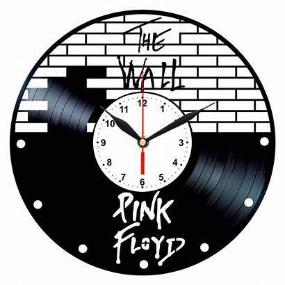 Pink Clock Floyd Vinyl Wall Rock Record
