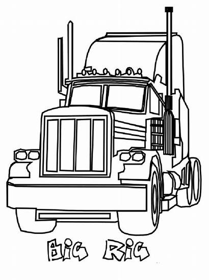 Semi Coloring Truck Pages Boys Printable Recommended