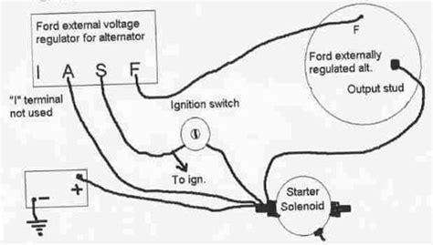 73 Chevy Alternator Wiring by Ford Alternator Wiring Diagram Regulator Circuit