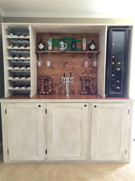 custom wet bar  kegerator  wine cooler  winecellar bars  home trendy home bar