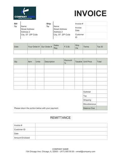 sales invoice template  remittance slip office forms