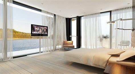 panoramic bedroom windows interior design ideas