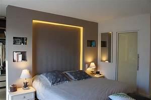 Dressing Derrière Tete De Lit : chambre avec t te de lit comme s paration souffle d 39 int rieur ~ Premium-room.com Idées de Décoration