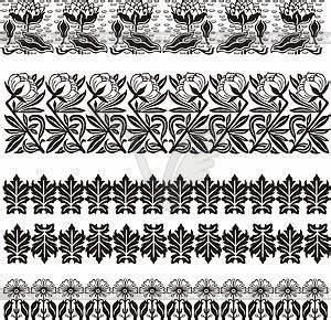 Jugendstil Florale Ornamente : einfache florale ornamente im jugendstil clipart design ~ Orissabook.com Haus und Dekorationen