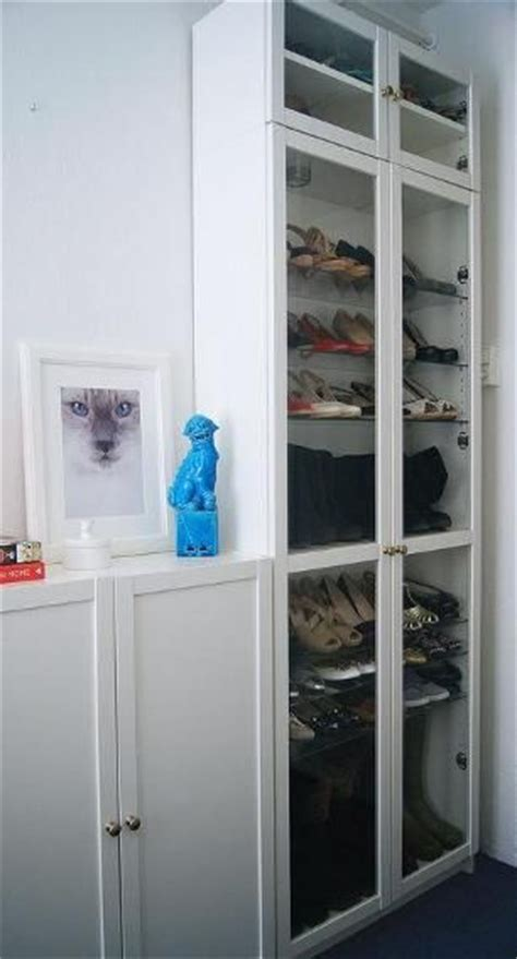 convert the classic ikea billy bookcase into a shoe closet
