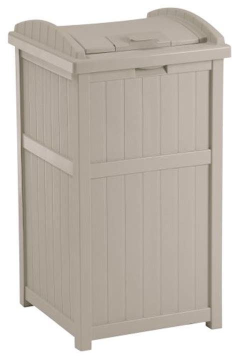 trash hideaway outdoor patio garbage can container kitchen