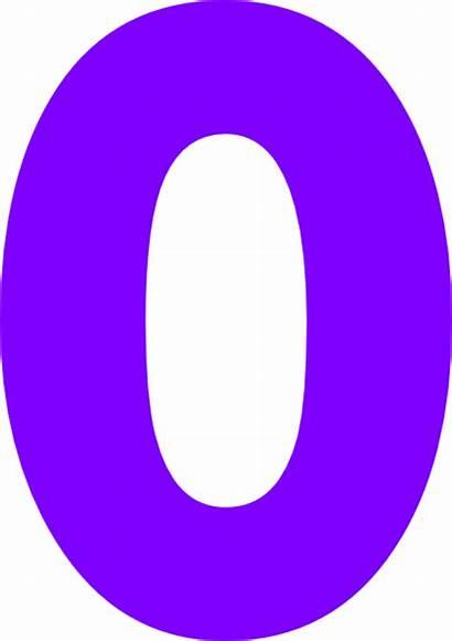 Zero Clipart Number Purple Clip Zeros Bubble