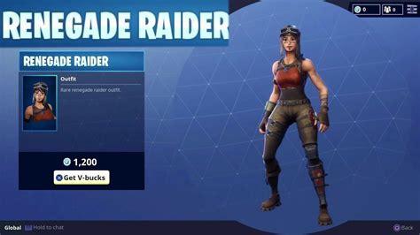 Rare Renegade Raider Character Outfit Skin Season Item In