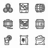 Barrel Whiskey Outline Icon Vector Premium sketch template