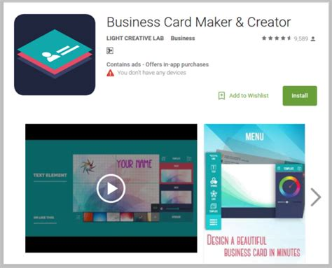 business card design app best business card design apps free premium templates