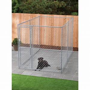 i need the cheapest but sturdiest way to extend high of a With chain link dog kennel panels home depot