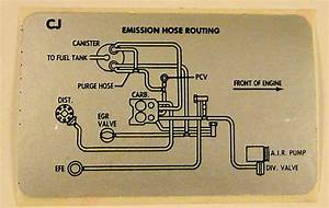 1979 Corvette 350 Emission Vacuum Hose Routing Label
