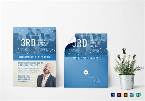 Annual Business Meeting Invitation Design Template in PSD