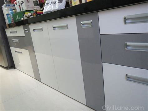 types  finishes  modular kitchen civillane