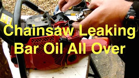 chainsaw leaking bar oil    place repair youtube