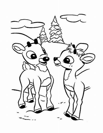 Coloring Rudolph Pages Printable