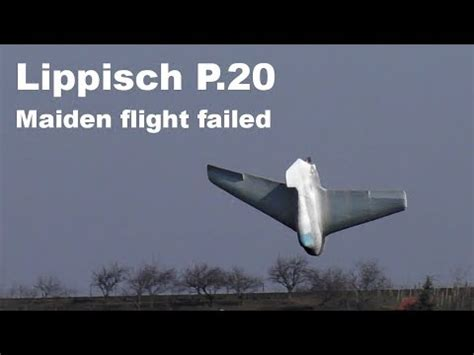 Lippisch P.20, RC model prototype, maiden flight failed ...