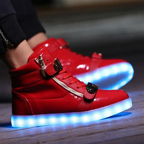light up high tops kids light up shoes gold high top with usb charger cheap sale