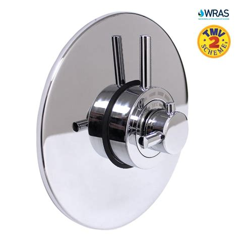 Bath Shower Mixer Valve - modern concealed concentric solid brass dual thermostatic