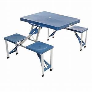 Table De Camping Pas Cher : table valise pic nic bleu table valise pique nique ~ Melissatoandfro.com Idées de Décoration