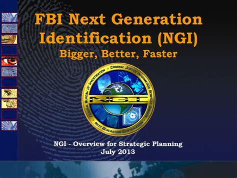 ufouo fbi  generation identification overview july