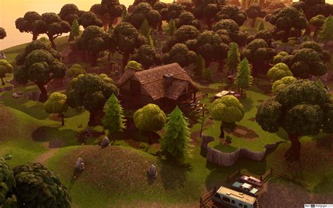 lonely lodge  fortnite hd wallpaper