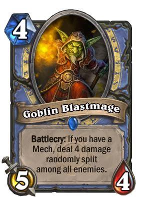 Mech Mage Deck Hearthpwn by Goblin Blastmage Hearthstone Cards