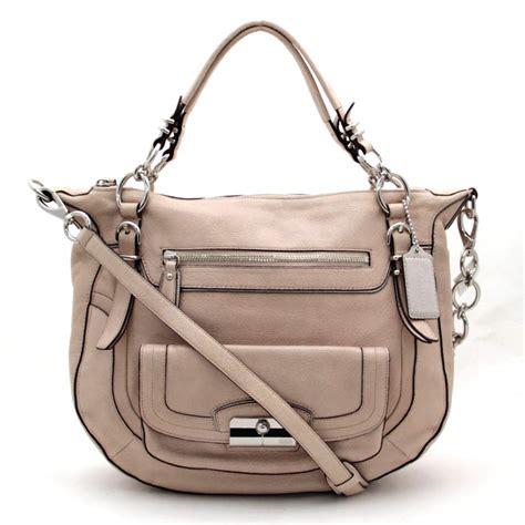 light pink leather purse auth coach shoulder bag light pink leather 26146 ebay