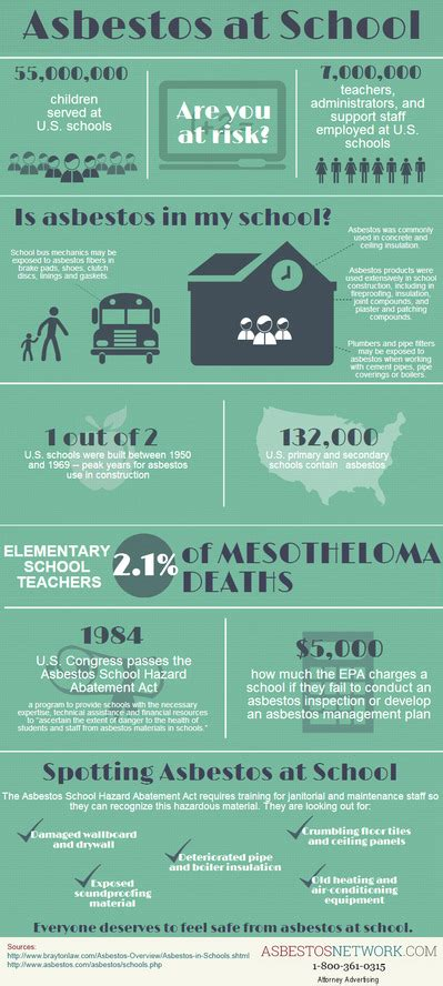 asbestos infographic asbestos  school asbestos