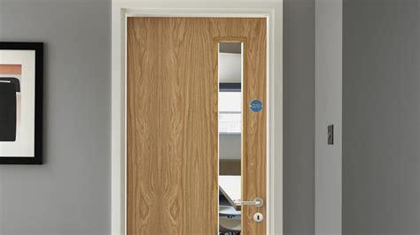 Internal Flush Oak Veneer 20g Glazed Fire Door FD30