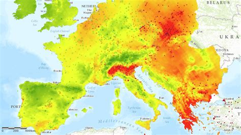 pm interpolated maps european environment agency