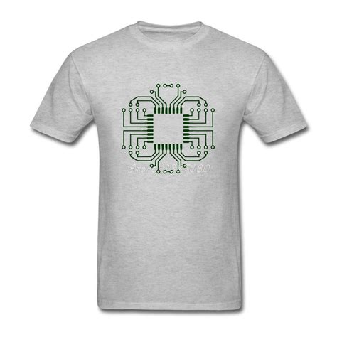 Electric Circuit Board Processor Shirt Short Sleeve