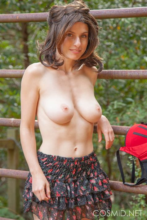 Busty Chick On A Fence