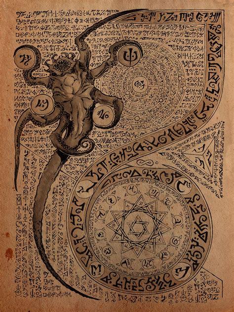 necronomicon page  danielgovar  p lovecraft create