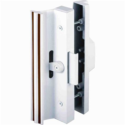 sliding glass door lock prime line surface mounted sliding glass door handle with