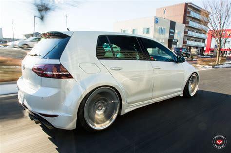 volkswagen japan widebody golf r gets lip concept vossen wheels in japan