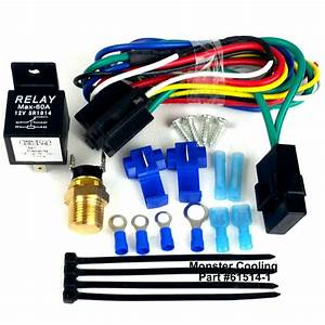 Radiator Fan Wiring Kit  Harness  Single Or Dual Fan  Pre