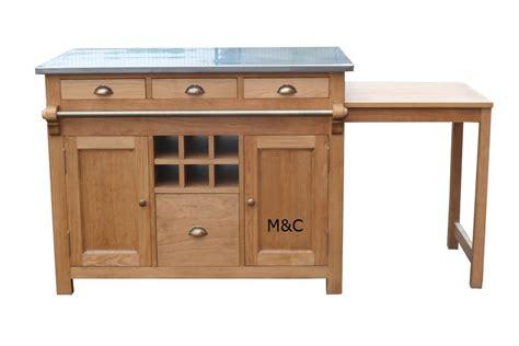 meuble central cuisine meuble central cuisine ilot central bois massif avec