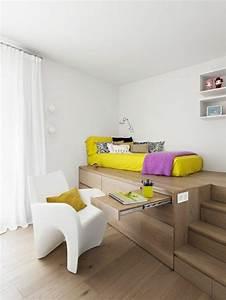 Aménagement Petite Chambre Ado : 1001 id es comment am nager une petite chambre mini espaces ~ Teatrodelosmanantiales.com Idées de Décoration