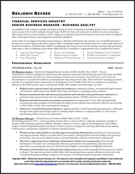 Resume Objective For Business Analyst Position by Business Analyst Resume Tips Tricks