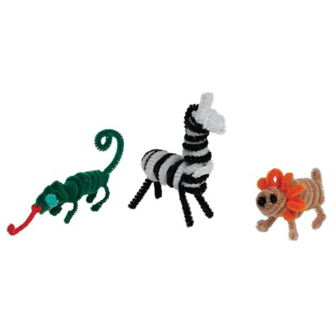 wild animal pipe cleaner set rex london  dotcomgiftshop