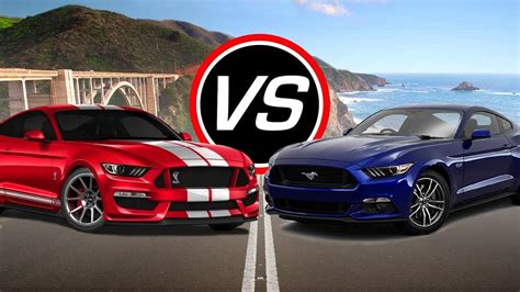 Gt500 Vs Gt350 by 2016 Ford Mustang Shelby Gt350 Vs Mustang Gt Spec